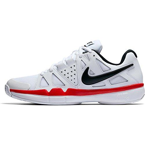 Nike Menns Luft Damp Fordel Tennissko Hvit / Svart-universitet Røde
