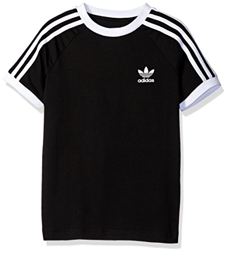 adidas Originals Big Boys' California Tee, Black/White, L