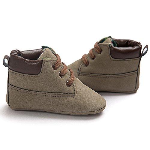 Stiefel Schuhe Jamicy® Baby High Cut Kleinkind Weiche Sohle Rutschfeste Leder Schuhe Infant Junge Mädchen Kleinkind Schuhe Braun