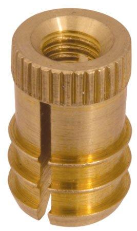 1/4-20 Thd., .409 Dia., .431 Lg., E-Z LOK Brass Finserts for Wood or Plastics (1 Each)