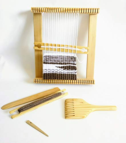 Weaving Loom12x15 Inches with Tapestry Beater,shuttles and Shed Stick. Free Needle Included