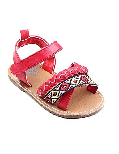 - Eden Babe Canary Boardwalk Baby Girl Strappy Gladiator Sandal(Red 13cm)