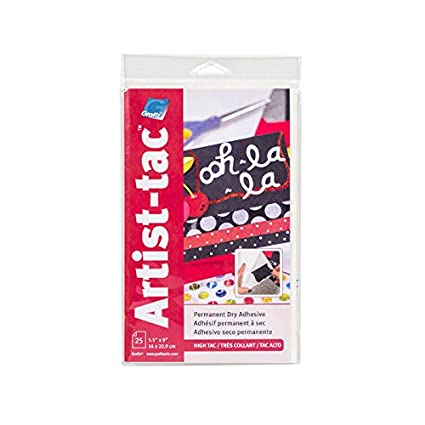 Grafix Artist-Tac AdhesivePerm 11x17 11 x 17 White