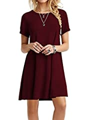 About Product: Women's Basic Short Sleeves Long Tunic Top Mini T-shirt Dress 100% brand new and in original package by MOLERANI Lightweight, soft and stretchy Unique style,make you beautiful,fashionable,sexy and elegant. Please check the meas...