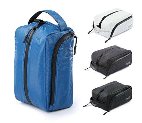 Toiletry Bag Waterproof Zip Travel Cosmetic Bag/ Dopp Kit/ Tyvek Dupont Material Shaving Kit (Waterproof Surface and Liner) for Men and Women by TRA