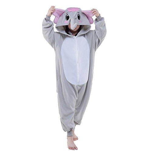 Halloween Unisex Children Elephant Pajamas Costume (85, Grey)]()