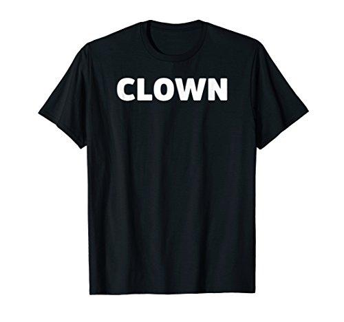 Clown Lazy Halloween Costume Simple Design Funny T-Shirt ()