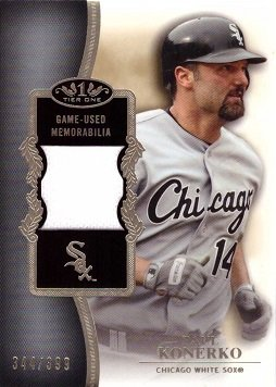 2012 Topps Tier One Relics #TSR-PK Paul Konerko Game Worn Jersey Baseball Card - Only 399 made!