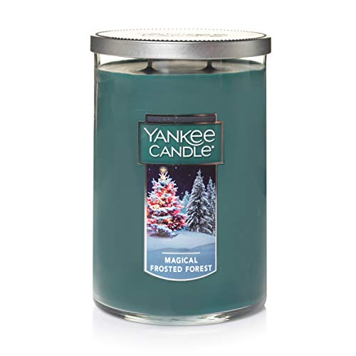 Yankee Candle Large Jar 2 Wick Magical Frosted Forest Scented Tumbler Premium Grade Candle Wax with up to 110 Hour Burn Time