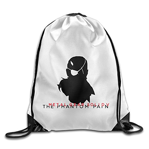 Bekey Metal Gear Solid V The Phantom Pain Drawstring Backpack Sport Bag For Men & Women For Home Travel Storage Use Gym Traveling Shopping Sport Yoga Running