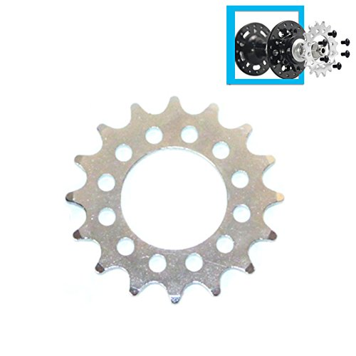 (16T Fixed Gear For Bicycle Disc Brake Mount Bolts-fixed Chain Wheel 6 Screw Disc Hub Convert To Fix Gear Single Speed Fixed)