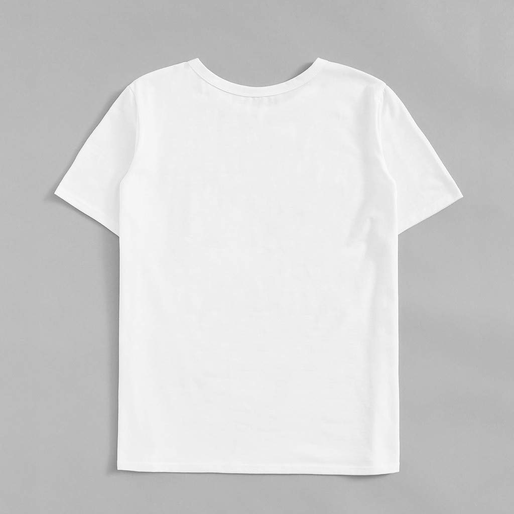 Summer Tops for Women Love Heart Gesture Printed Casual T-Shirt Short Sleeve Blouse Cute Pullover Tee