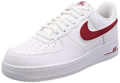 best service 525e2 7a9a2 Nike Men s Air Force 1  07 3 Basketball Shoes White Gym Red, Size