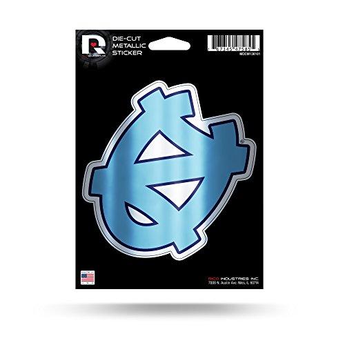 Rico Industries NCAA North Carolina Tar Heels Die Cut Metallic StickerDie Cut Metallic Sticker, Blue, 5.75 x 7.75-inches