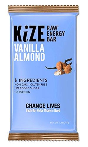 Kize Raw Energy Bar, Vanilla Almond, 10 Count