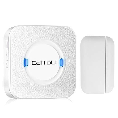 CallToU Wireless Door Open Chime Entry Alert Alarm for Business Shop Home Retail Store Apartment Office 55 Ringtones 5 Volume Levels 1 Magnet Door Window sensors 1 Receiver