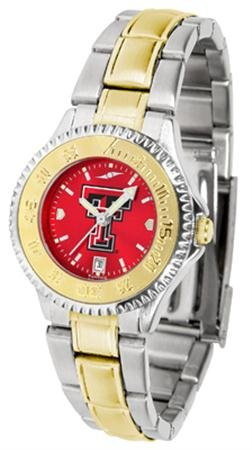 (Texas Tech Red Raiders Competitor Two-Tone AnoChrome Women's Watch)