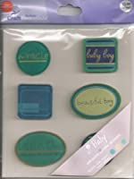 Baby Boy Acrylic Accent Scrapbook Stickers (27700)