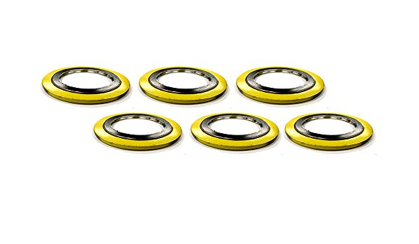7.187 ID Pressure Class 150# 304 SS Windings//Graphite//Carbon Steel Outer Ring 8.75 OD Sterling Seal SSI90006304GR150X12 Spiral Wound Gasket with Flexible Filler for 6 Pipe Pack of 12