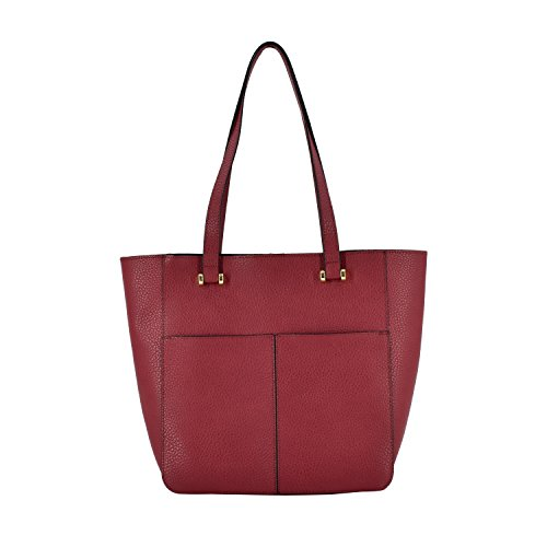 ESA Women's Fashion Shopper Shoulder Bag Vegan Leather Top-handle Handbag Tote Style Purse ()