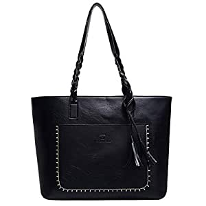 Bageek Womens Tote Bag Tote Handbag Creative Tassel Decor Shoulder Bag for Ladies