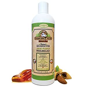 Dog shampoo For Short Haired Pets– Ideal Shampoo For Itching/Dry/Sensitive Skin –Natural Sulfate/Paraben Free/Scented/Anti-Fungal/Veterinarian Formulated Short Haired Dog Shampoo By Makondo Pets
