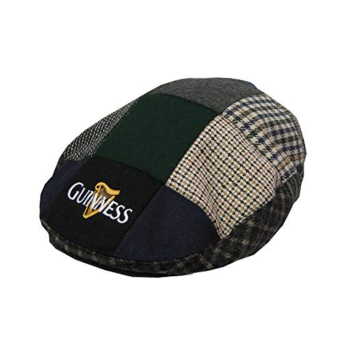 (Guinness Patch Tweed Flat Cap - Unisex (Large))