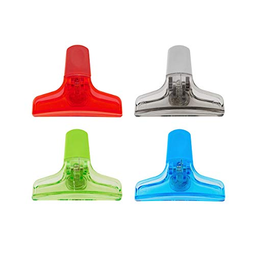 kizmos 5064318 Magnetic Multipurpose Bag Clips, Set of 4, Multicolored
