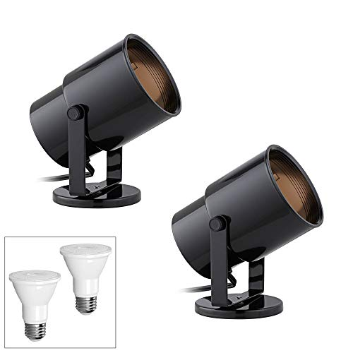 - Cord-n-Plug Black 2700K LED Accent Uplight Set of 2 - Pro Track