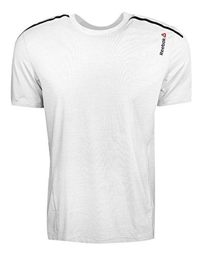 Reebok Men's One Series Activchill Bonded Short Sleeve Top, Small, White
