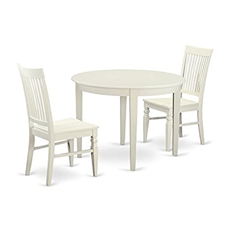 Amazon.com: East West Furniture BOWE5-WHI-W 5 PcKitchen ...