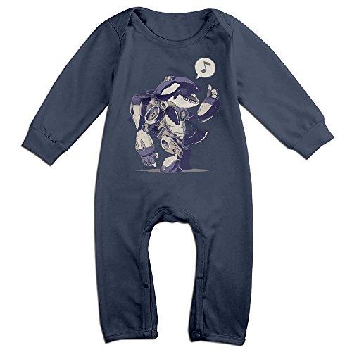 [Mmo-J Newborn Babys Cyborca Long Sleeve Bodysuit Baby Onesie Navy Size 12 Months] (Dwayne Johnson Baby Costume)