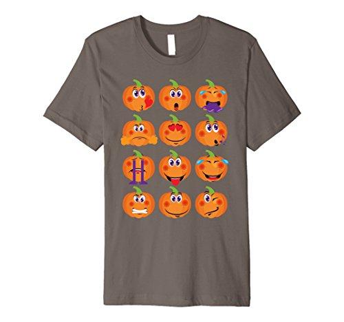 Halloween Costume Ideas For Two Best Friends (Mens Funny Emoji Halloween Pumpkin costumes T-shirt Cute Gift Tee 3XL Asphalt)