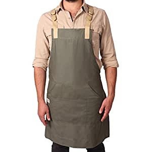 Kokken Everyday Crafters Apron by Artisan Supply Company - 100% Cotton Canvas Made for Professional Chefs, Ceramist, Studio Artist, Printers and More