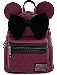 Minnie Mouse Maroon Quilted Womens Double Strap Shoulder Bag Purse