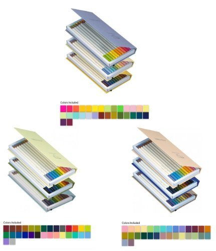 Tombow Irojiten Colorpencils with enamel finish - Pack of 3 Unique Sets - Rainforest, Seascape and Woodlands, Sold As 90 Colored Pencils per Pack by Tombow