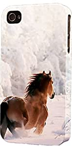 Horse Running In Snowy Country Side Dimensional Case Fits iPhone 5c