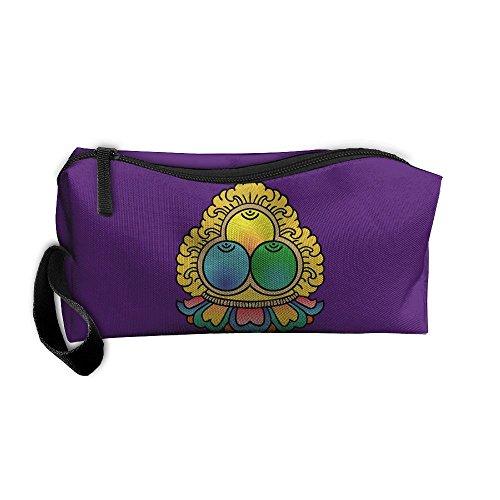Three Jewels Tibetan Buddhism Portable Travel Home Lingerie Bra Cosmetic Make-up Storage Bag Handbag