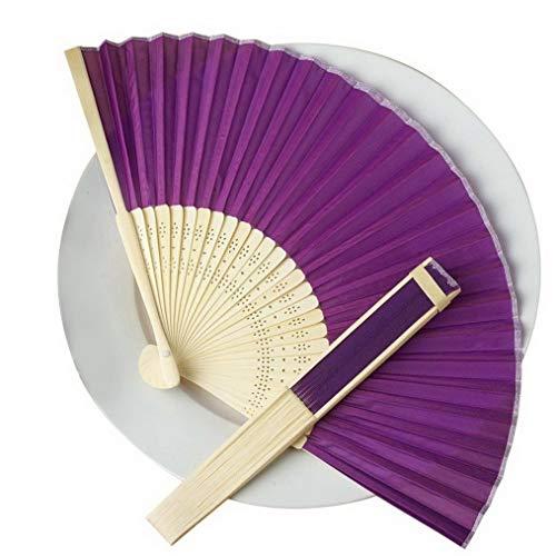 Steelers Ceiling Fan Decor - Mikash 75 pcs Hand Fans Summer Silk Fabric Folding Wedding Favors Wholesale Decorations | Model WDDNGDCRTN - 9398 |