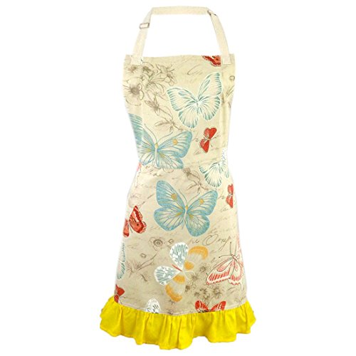 Butterfly Kisses 2-in-1 Apron | Full Apron to Half Apron | Handmade USA | Cooking, Crafting, Gift