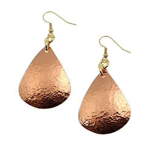 - Hammered Tear Drop Copper Earrings - John S Brana Handmade Jewelry Durable Copper Earrings