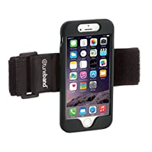 """TuneBand for iPhone 6 / iPhone 6S (4.7"""" Screen), Premium Sports Armband with Two Straps and Two Screen Protectors, BLACK"""