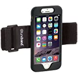 TuneBand for iPhone 6 and iPhone 6S, Premium Sports Armband with Two Straps and Two Screen Protectors, BLACK