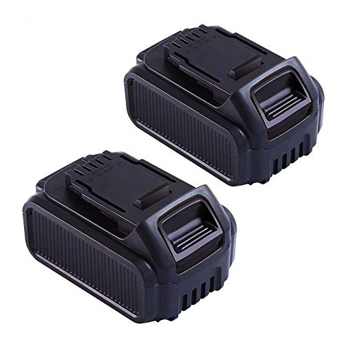 Upgraded 5000mAh 20 Volt Lithium-ion Replace for Dewalt 20V Battery DCB205 DCB205-2 DCB206 DCB207 DCB204 DCB203 DCB201 DCB200 DCB180 DCD/DCF/DCG/DCS Series 20V Dewalt Battery (Pack of 2)