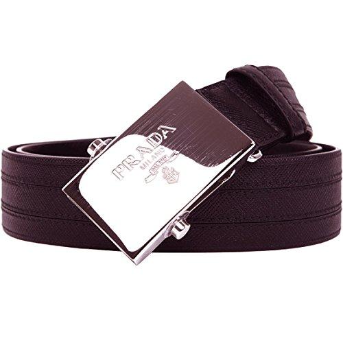 Prada Men's Brown Saffiano 1 Belt 2CM009 Size: 95/38 (Prada Brown Belt)