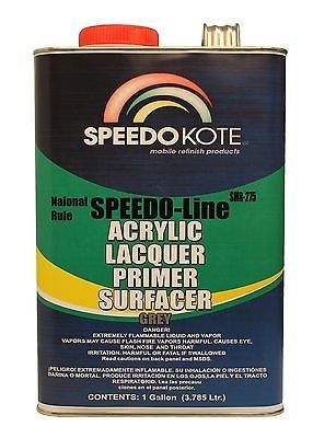 SpeedoKote SMR-275 - High Build Acrylic Lacquer Primer Gray Gallon, Fast Dry, Easy Sanding, - Gray Acrylic Lacquer