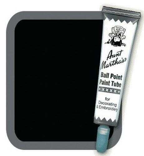 Aunt Martha's Ballpoint Paint Tube, 1-Ounce, Black