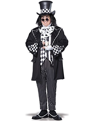 California Costumes Men's Plus-Size Dark Mad Hatter From Alice In Wonderland In Plus, Multi, Plus -