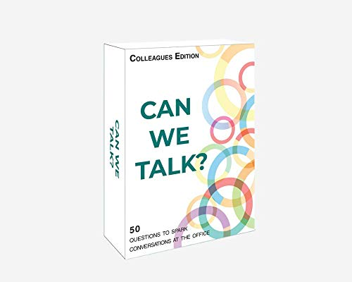 Words Well Said | Can We Talk Cards Colleagues Edition: 50 Questions for Team Building, Networking, and Ice Breaker Activities (Best Ice Breaker Games For Adults)