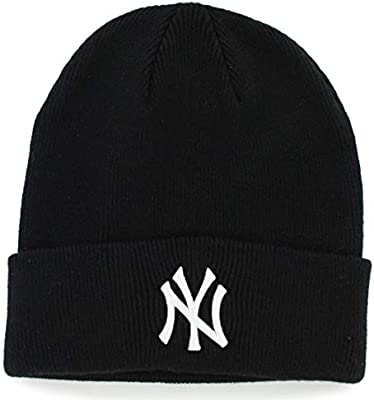 ca95cfb298c Amazon.com    47 New York Yankees Black Beanie Hat - MLB NY Cuffed Winter  Knit Cap   Sports Fan Beanies   Sports   Outdoors.
